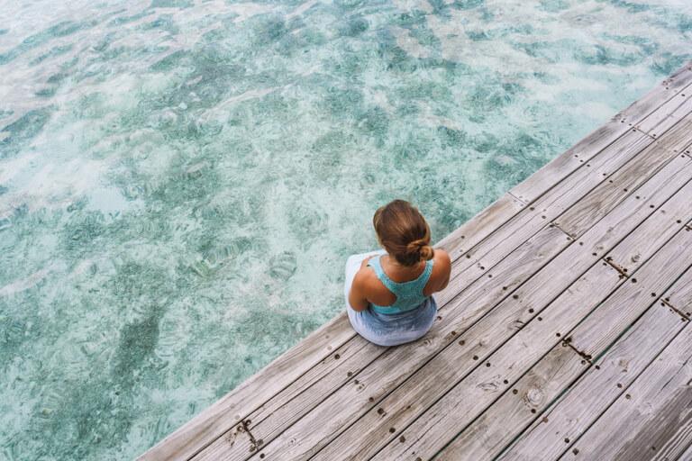 Schoenste Insel Malediven Lagune