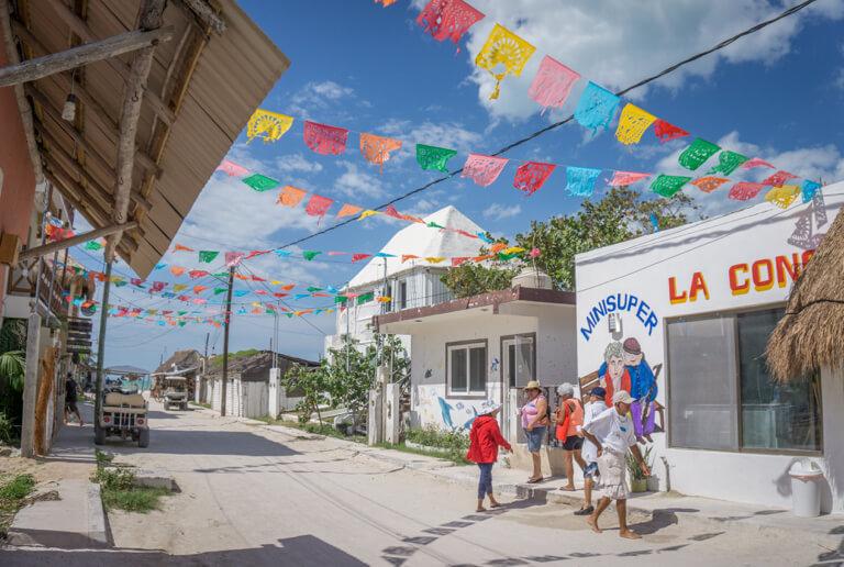 Strassenszene Mexiko Insel