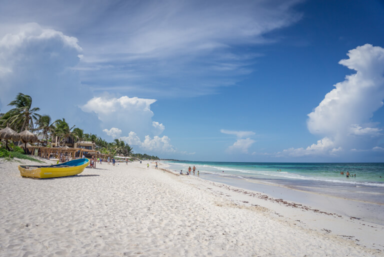 Tulum Mexiko Hotel Ahau Strand