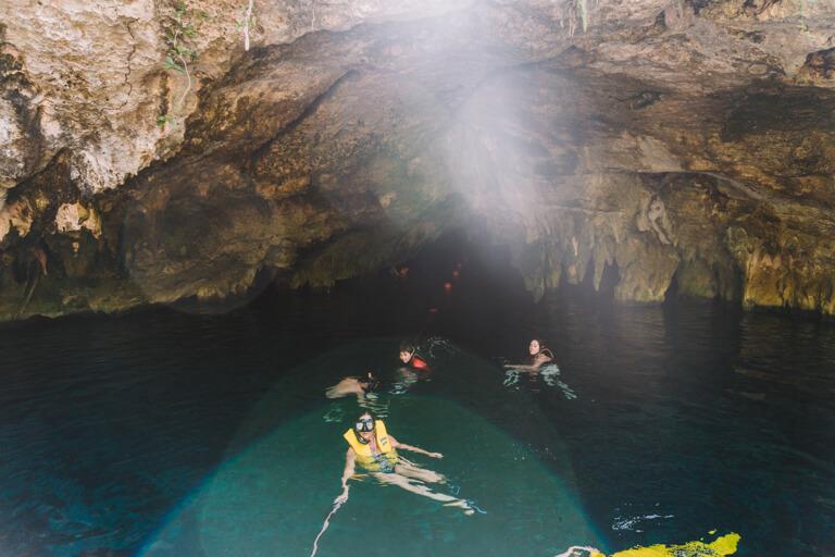 Tulum Sehenswuerdigkeiten Gran Cenote Hoehle
