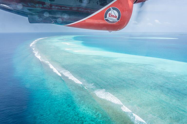 Wasserflugzeug Malediven Inseln Atoll