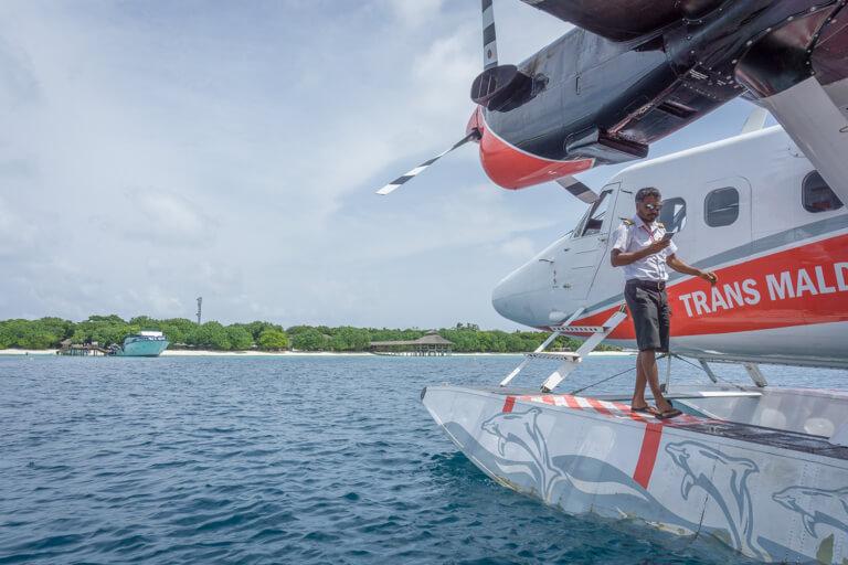 Wasserflugzeug Malediven Inseln