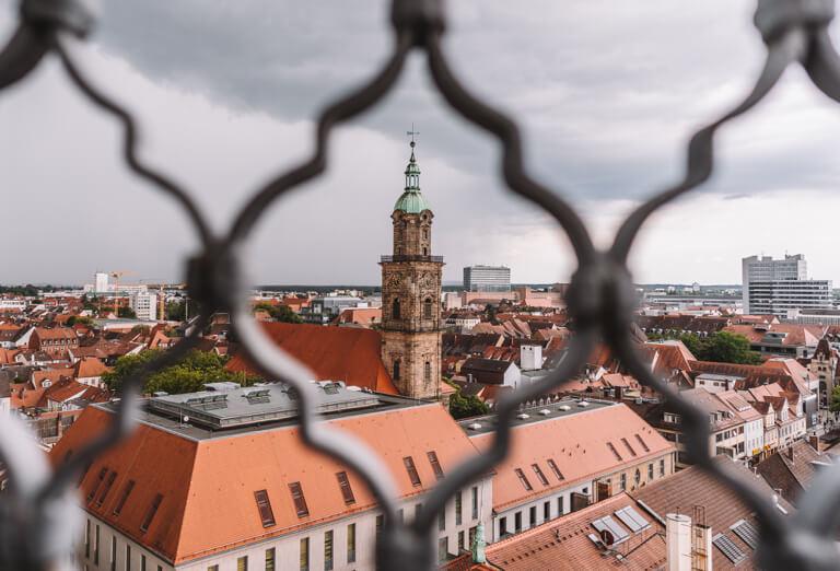 Erlangen Sehenswuerdigkeiten Hugenottenkirche Aussicht