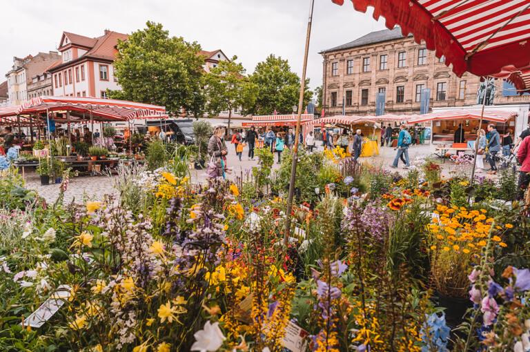 Erlangen Sehenswuerdigkeiten Wochenmarkt