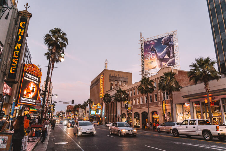 Hollywood Boulevard Nachtleben