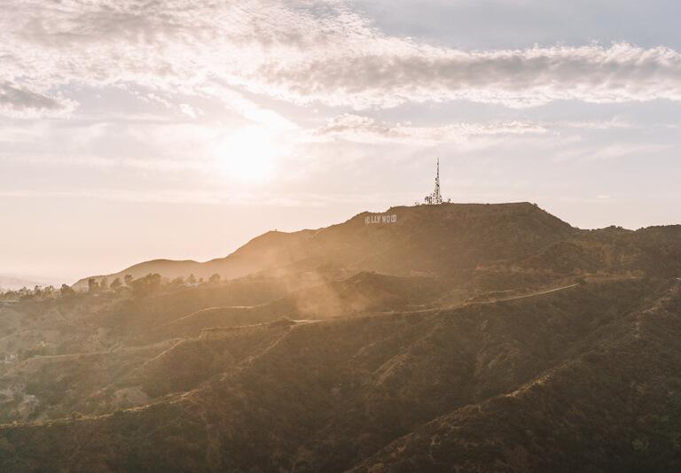 Hollywood Hills Sonnenuntergang