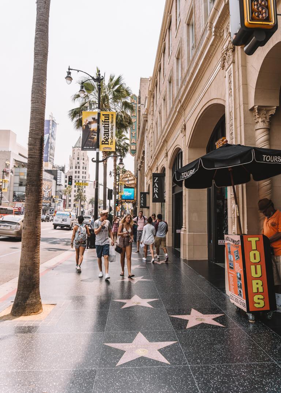 Hollywood Walk of Fame Avenue of Stars LA