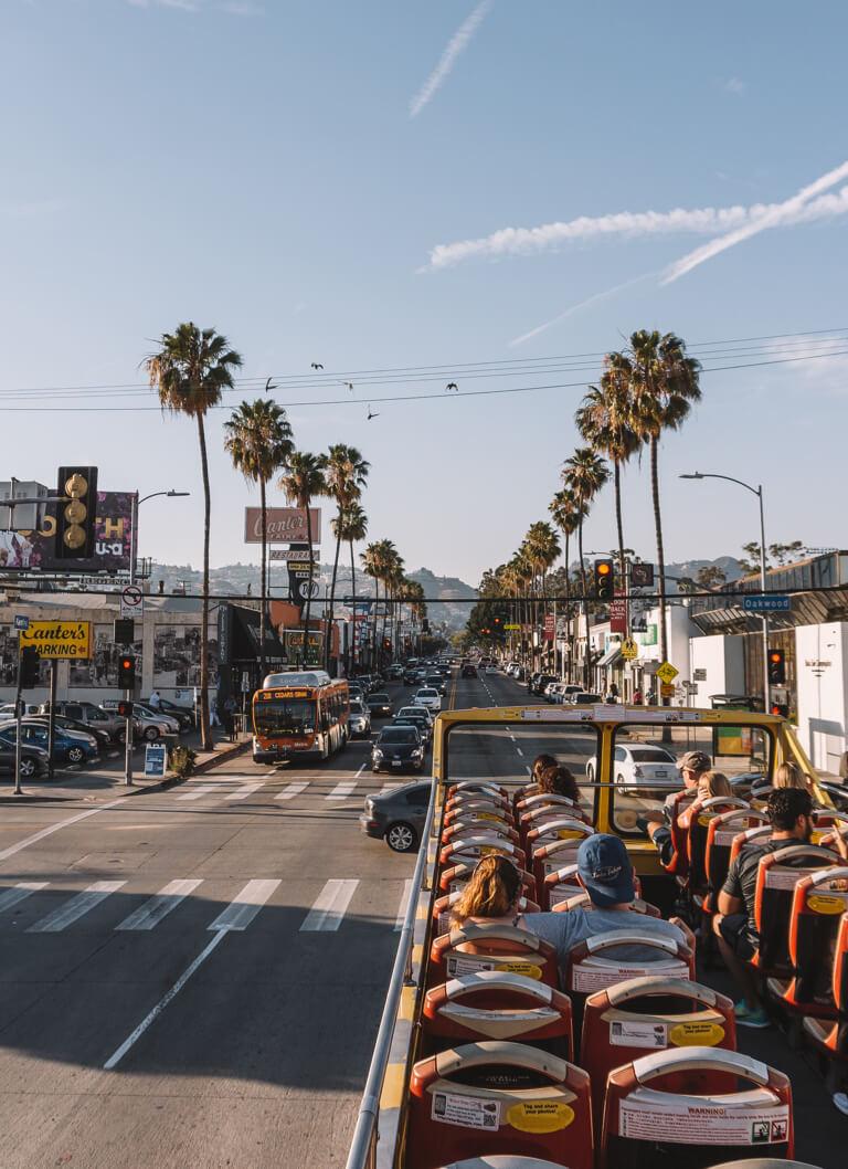 Los Angeles Hop on Hop off Tour Bus