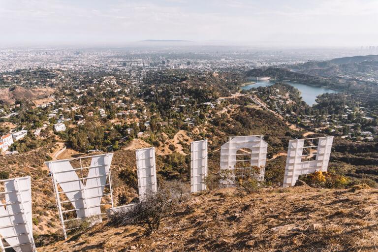Los Angeles Sehenswuerdigkeiten Hollywood Sign Buchstaben