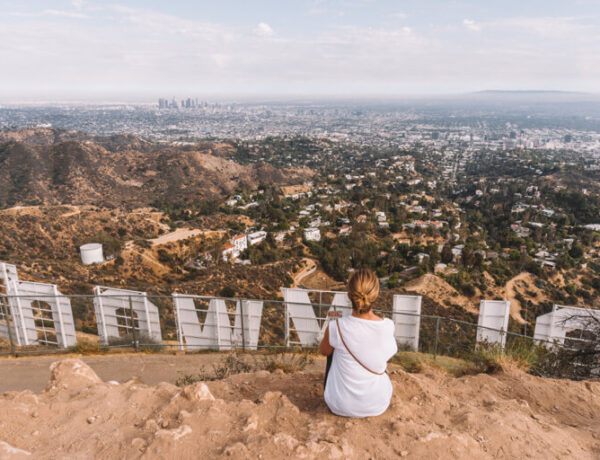Los Angeles Sehenswuerdigkeiten Hollywood Sign Mount Lee Buchstaben