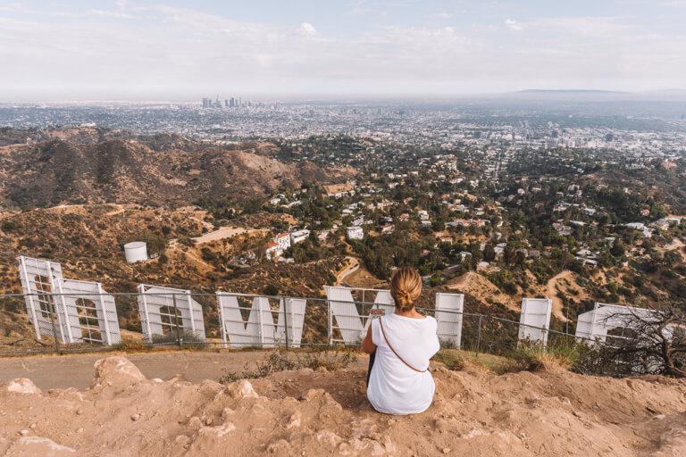 Los Angeles Sehenswuerdigkeiten Hollywood Sign MountLee Buchstaben