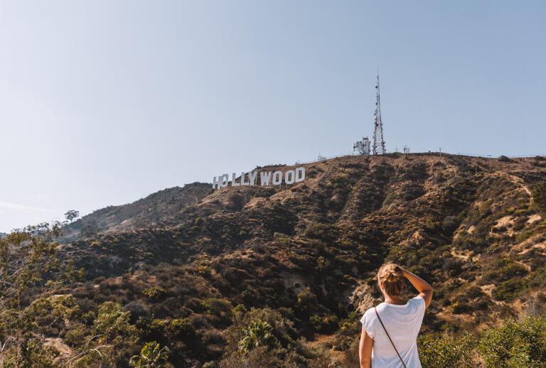 Los Angeles Sehenswuerdigkeiten Hollywood Sign MountLee