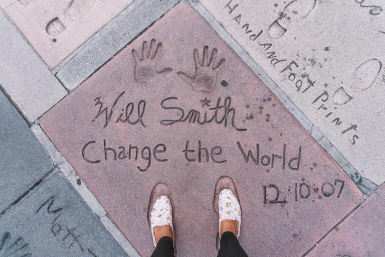 Los Angeles Sehenswuerdigkeiten Hollywood Walk of Fame Will Smith