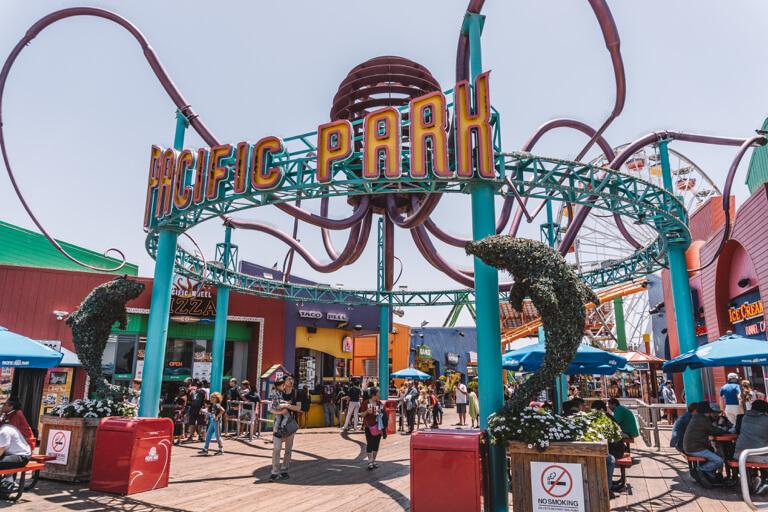 Los Angeles Sehenswuerdigkeiten Santa Monica Pier Pacific Park