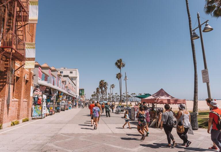 Los Angeles Sehenswuerdigkeiten Venice Beach Boardwalk