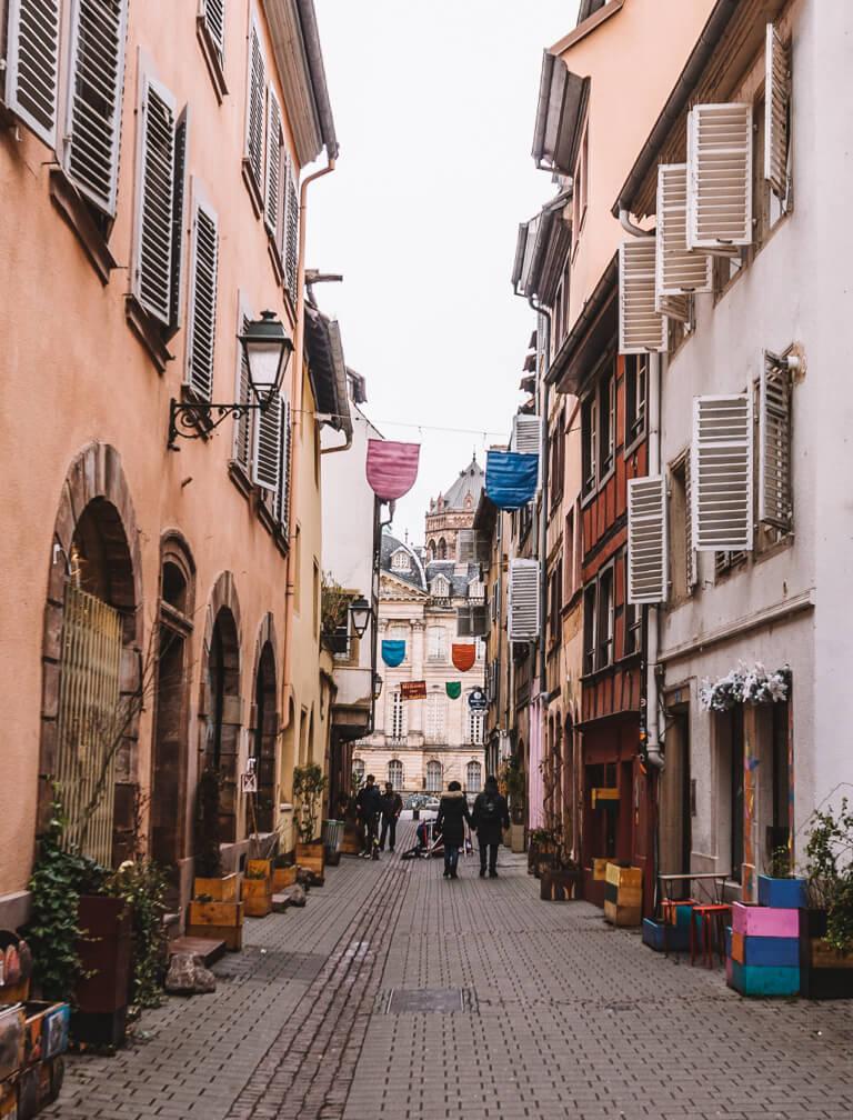 Rue Sainte Madeleine Elsass Strassburg