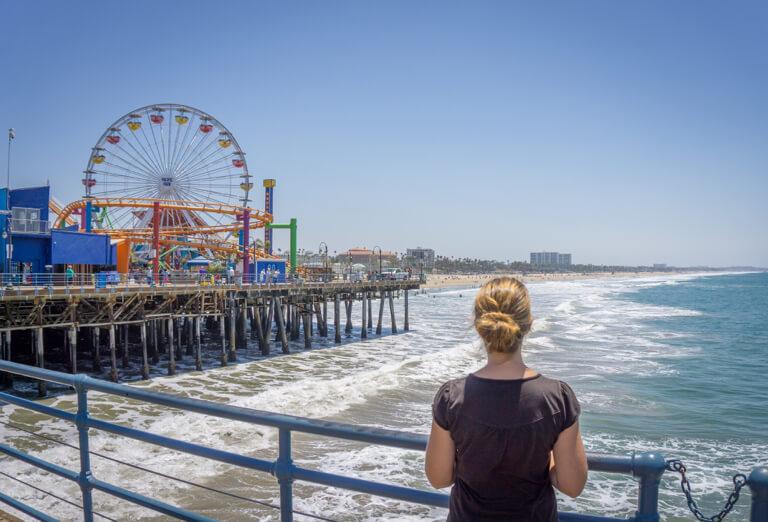 Santa Monica Pier Pacific Park Riesenrad