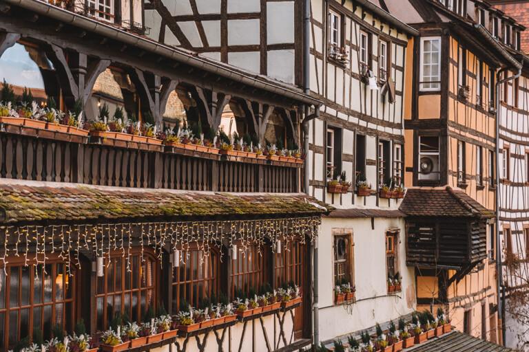 Strassburg Fachwerkhaeuser