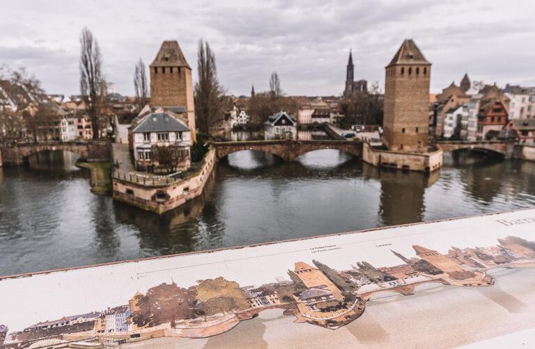 Strassburg Sehenswuerdigkeiten Barrage Vauban Panoramaterrasse