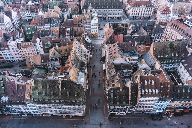 Strassburg Sehenswuerdigkeiten Liebfrauenmuenster Aussicht Grand Ile