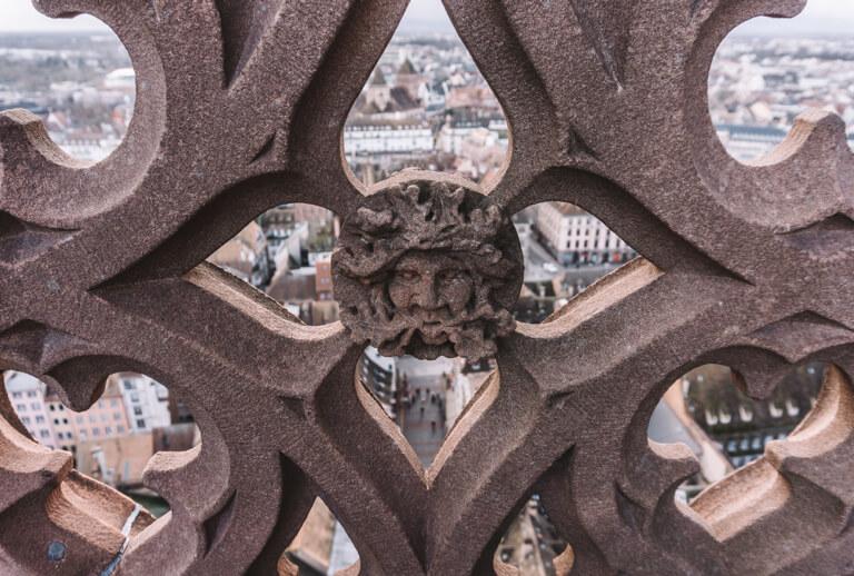 Strassburg Sehenswuerdigkeiten Liebfrauenmuenster Panorama Terrasse