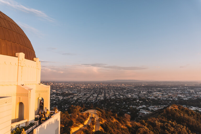 Sunset Griffith Observatorium Planetarium