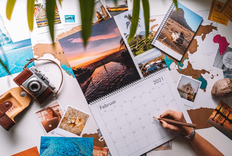 Geschenke fuer Reisende Wandkalender