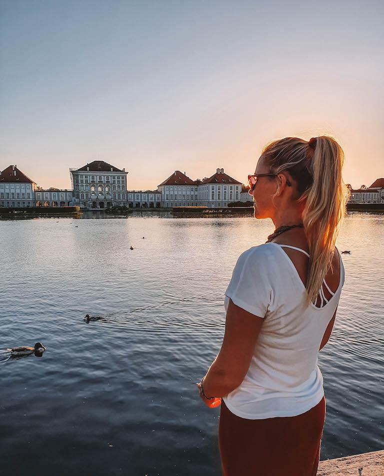 Muenchen Sehenswuerdigkeiten Nymphenburg Sonnenuntergang