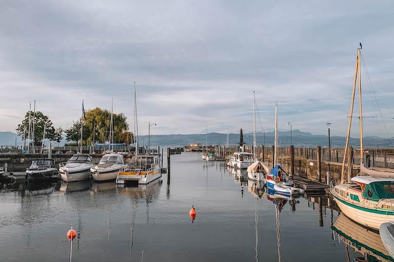 Bodensee Hafen Langenargen