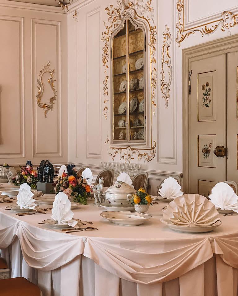 Neues Schloss Tettnang Tisch