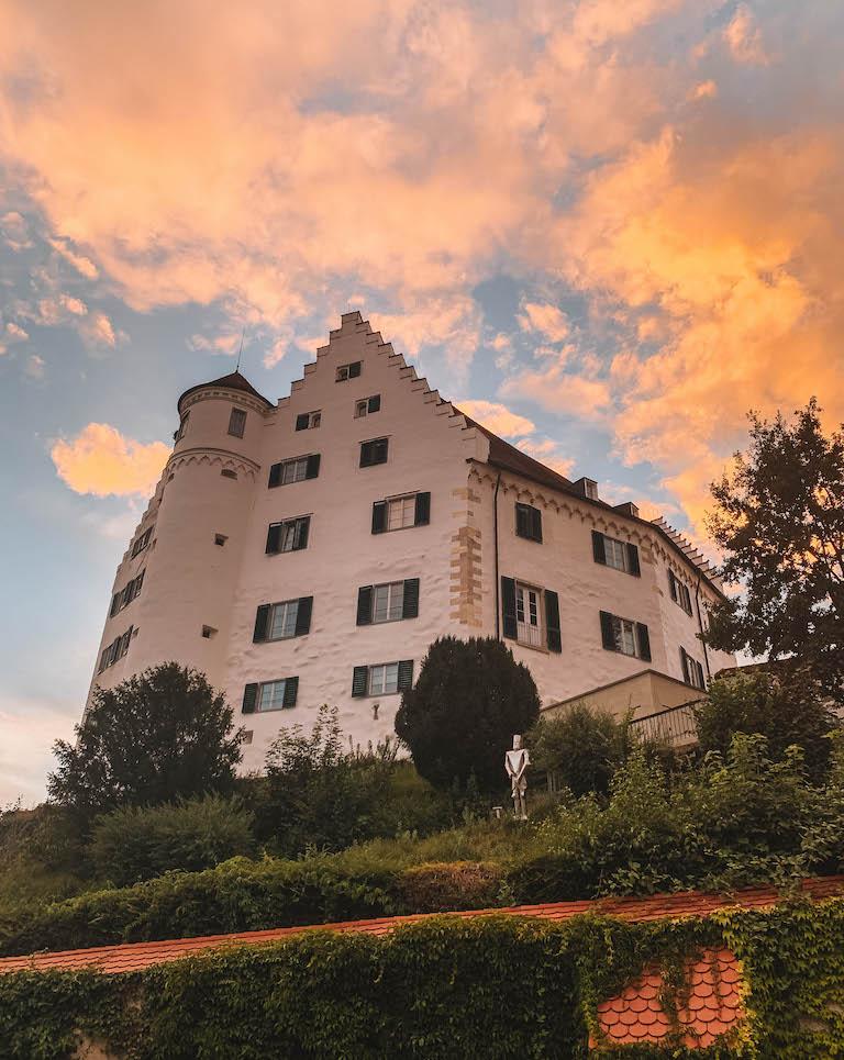 Schloss Aulendorf Oberschwaben Sonnenuntergang