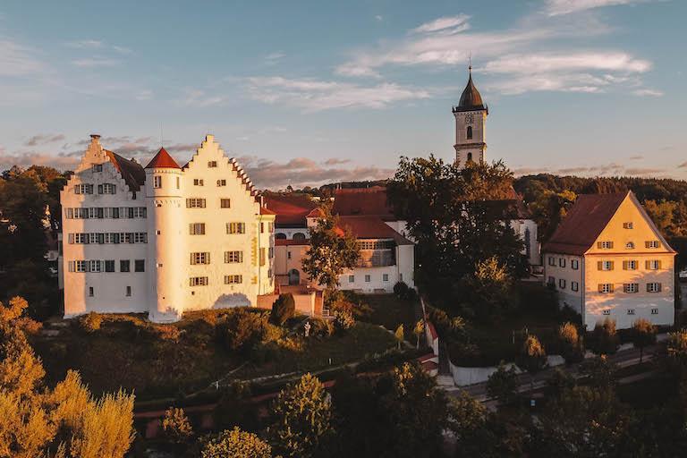 Schloss Aulendorf Sonnenaufgang
