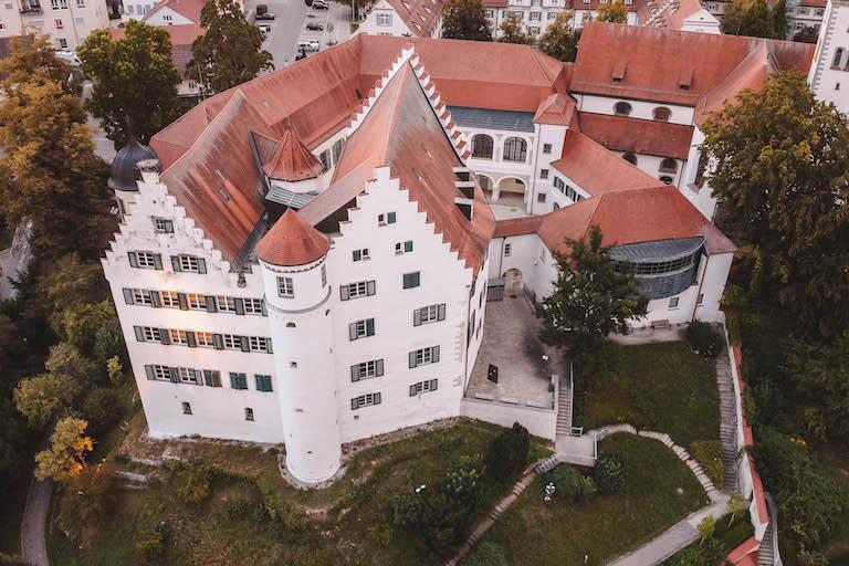 Schloss Aulendorf von oben