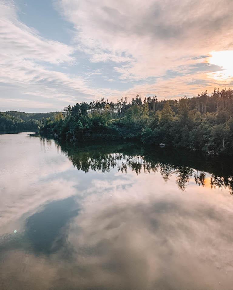 Sonnenuntergang Ottenstein