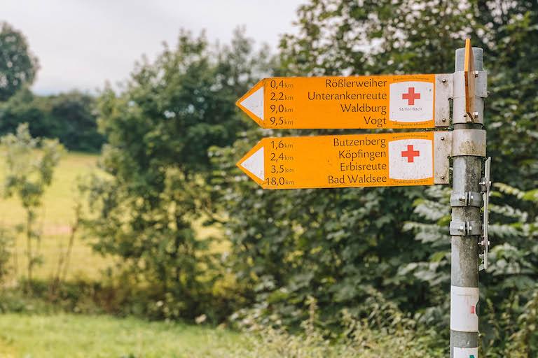 Weingarten Wandern Schilder