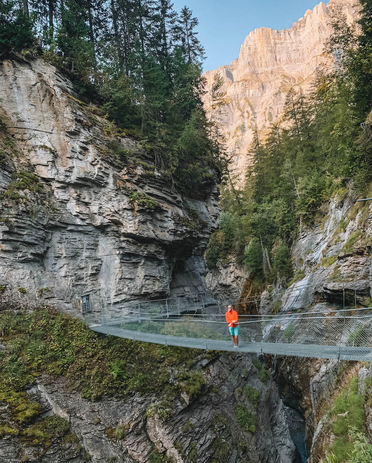 Ausflugsziele Schweiz Leukerbad Thermalquellensteg