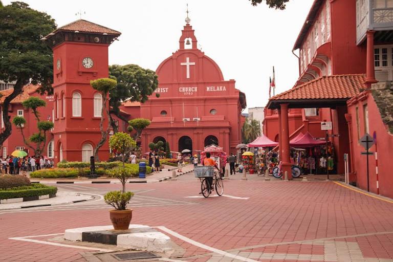 Malaysia Sehenswuerdigkeiten Stadthys Melaka