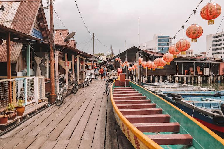 Sehenswuerdigkeiten Malaysia Clan Jetties