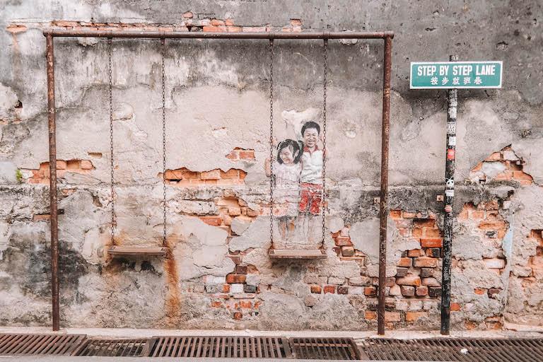 Streetart Penang Kinder