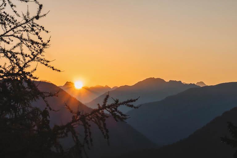 Sonnenaufgang Wallis