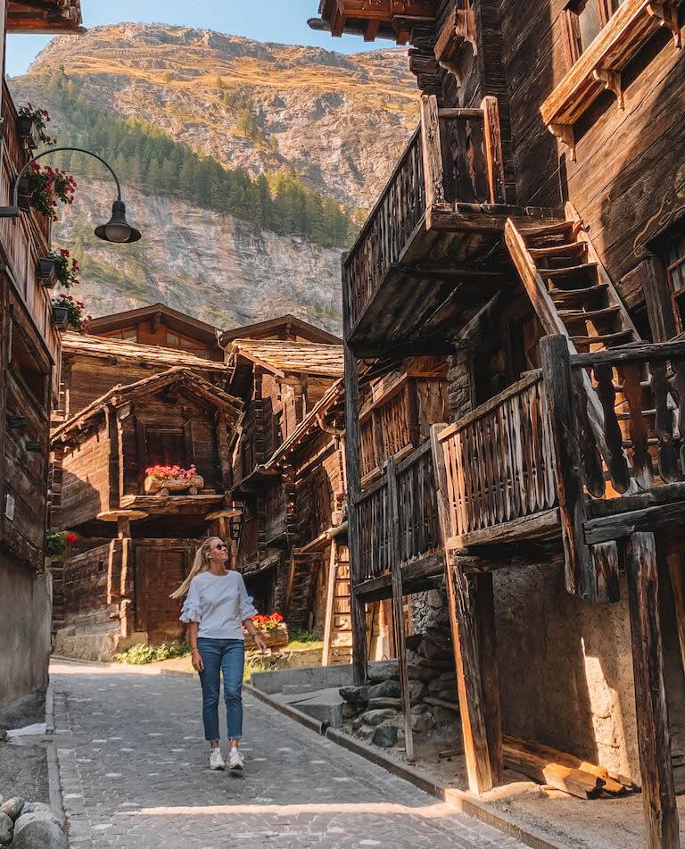 Zermatt Wallis alter Dorfteil