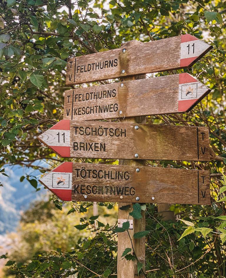 Brixen Suedtirol Kastanienweg
