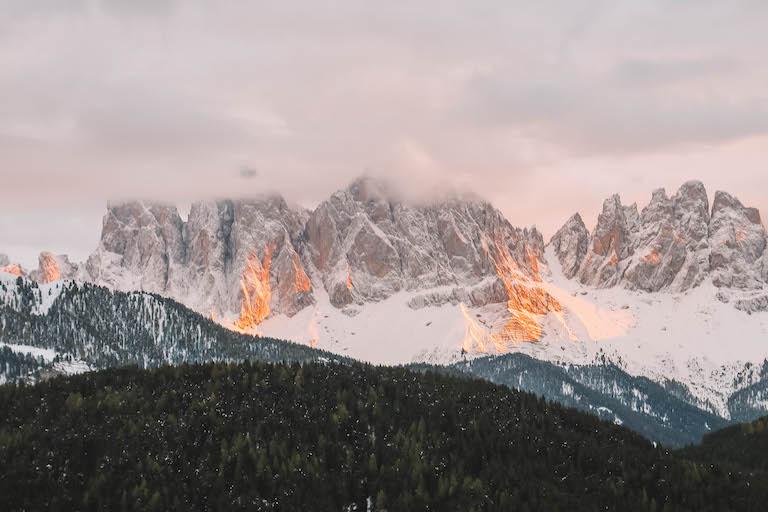 Sonnenuntergang Dolomiten