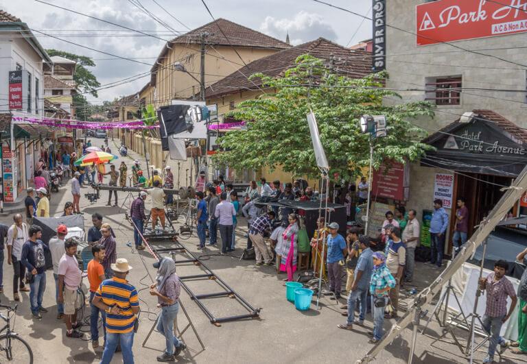 Bollywood Dreharbeiten Kochi Indien