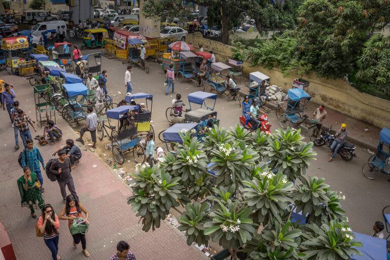 Delhi Rikschas Tuk Tuks