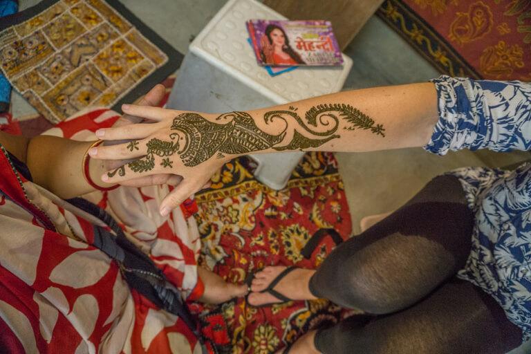 Henna Tattoo Indien Norden Jaisalmer