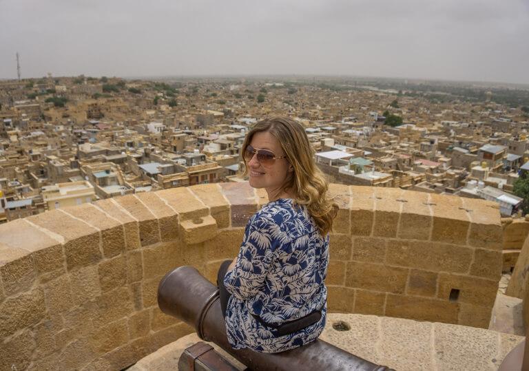 Indien Sehenswuerdigkeiten Jaisalmer Rajasthan Ausblick Fort