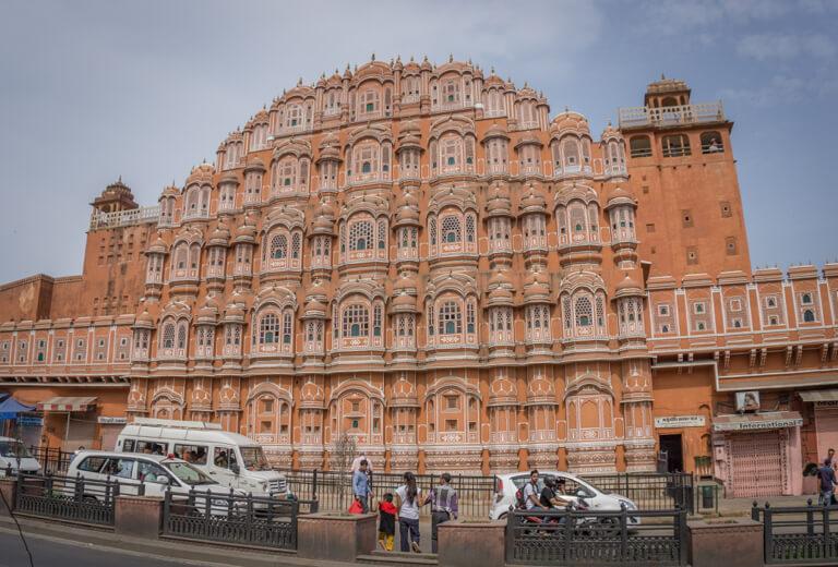 Indien Sehenswuerdigkeiten Rajasthan Jaipur Der Palast der Winde