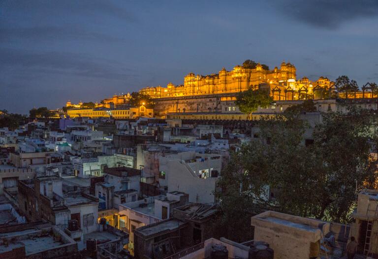 Indien Sehenswuerdigkeiten Rajasthan Udaipur Royal Palace