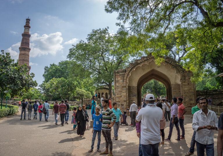 Indien Sehenswuerdigkeiten Siegesturm Qutb Minar